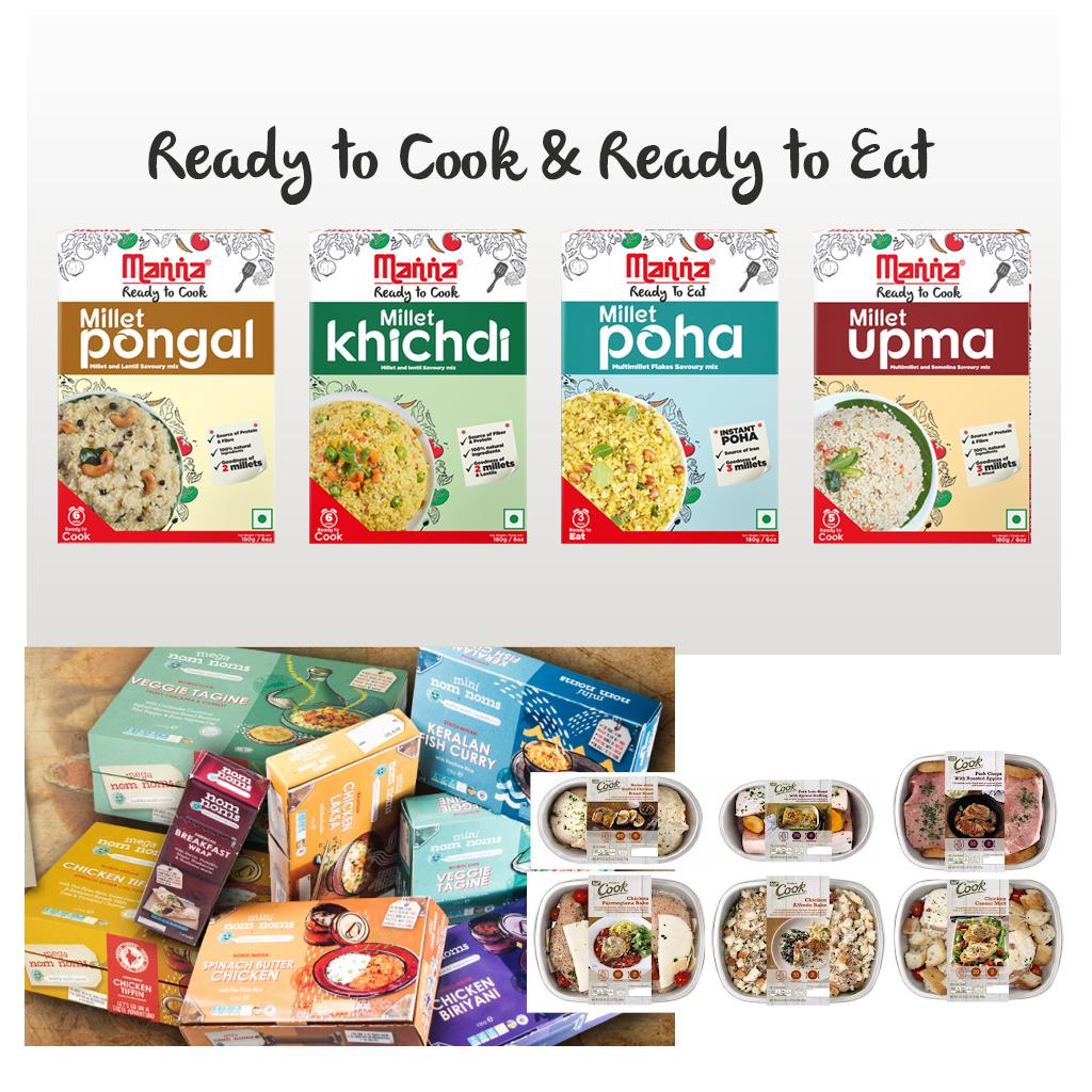prodotti alimentari pronti da cuocere